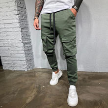 Хлопковые мужские модные повседневные Прямые брюки в европейском