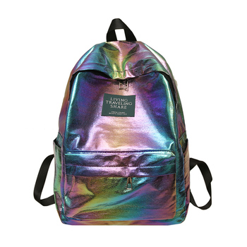 Travel Bags Silver Blue Pink Laser Backpack Women Girls Bag PU Leather Holographic Backpack School Bags for Teenage Girls joypessie brand vintage backpack mochilas travel pu leather backpack women backpacks for teenage girls school bags