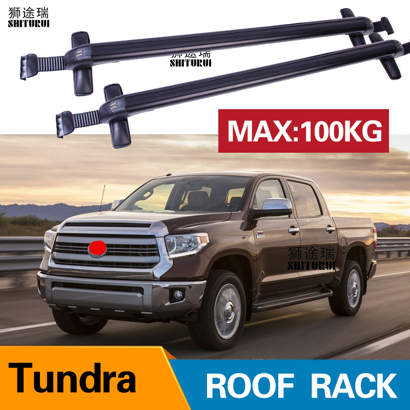 2pcs Roof Bars For Toyota Tundra Double Cab Crewmax Cab 2007 Aluminum Alloy Side Bars Cross Rails Roof Rack Luggage Roof Racks Boxes Aliexpress