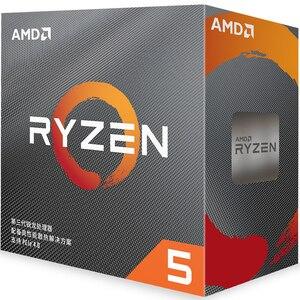 Image 1 - AMD Ryzen 5 3600 R5 3600 3.6 GHz שש ליבות עשר חוט מעבד מעבד 7NM 65W L3 = 32M 100 000000031 שקע AM4 חדש עם מאוורר