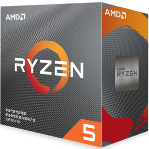 AMD Ryzen 5 3600 R5 3600 3.6 GHz Six-Core Twelve-Thread CPU Processor 7NM 65W L3=32M 100-000000031 Socket AM4 new and with fan