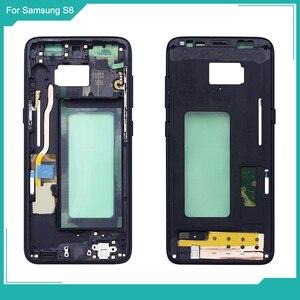 Image 3 - Netcosy Samsung S8 G950 S8 artı G955 orta çerçeve plaka çerçeve muhafazası kapağı için Replacemenrt Samsung S9 G960 S9 artı G965