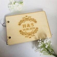 Индивидуальные инициалы, выгравированные Свадебные вывески, деревянные, А4/А5, персонализированные, вечерние, гостевая книга для невесты, жениха, свадебные подарки, книжные принадлежности