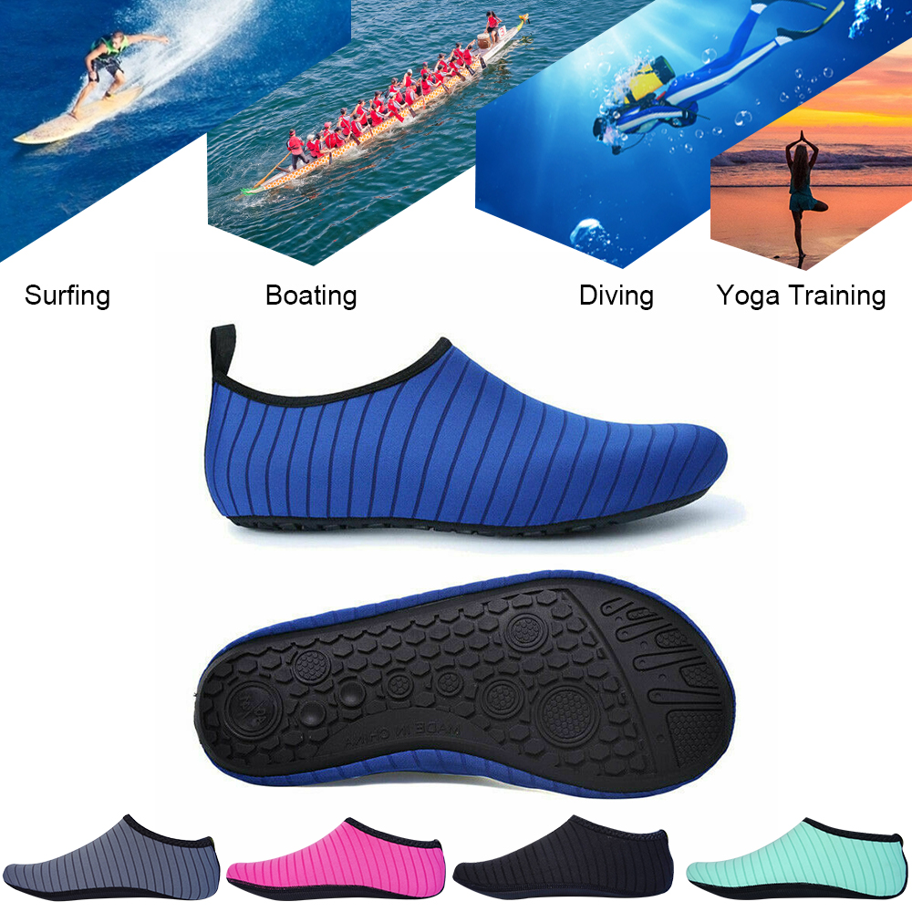 SFIT Unisex Sneakers Swimming Shoes Non-slip Water Shoes Soft Walking Yoga Shoes Socks Surfing Diving Beach Shoes For Adult