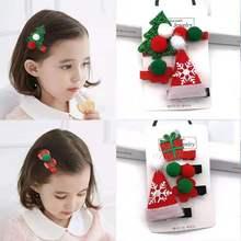 European and American fashion girls Christmas cartoon hairpin childrens series hair accessories ring
