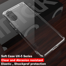 IMAK UX 5 Crystal Back Cover for Sony Xperia 10 II Case 360 Protection Transparent Clear TPU for Sony Xperia10 II Case Sony 10II