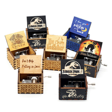 Music-Box Wooden Birthday-Present You-Are-Our-Sunshine-I-Love-You Hand-Cranked Christmas-Gift