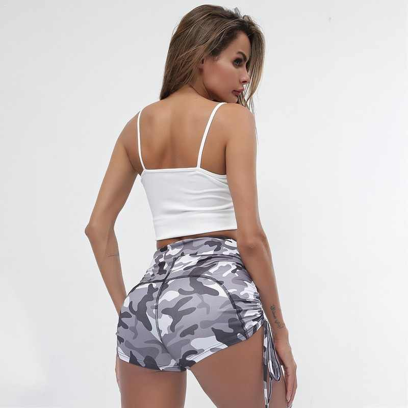 נשים גבוהה מותן ספורט קצר אימון ריצה כושר חותלות נקבה ספורט מכנסי ספורט חותלות מכנסיים קצרים שלל