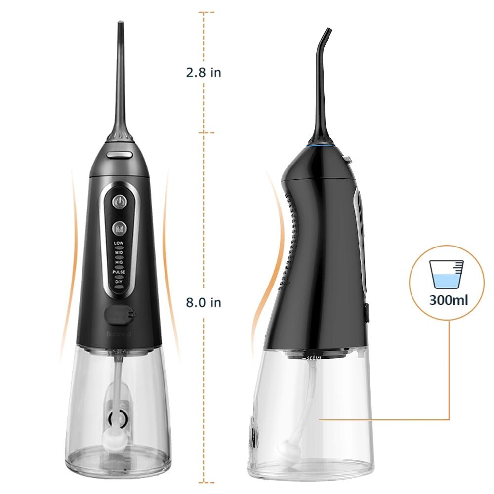 Ирригатор для полости рта с зарядкой от USB, 5 режимов, 300 мл 5
