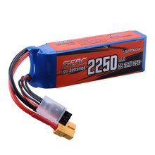 Sunpadow 3S 11.1V Lipo Battery 2250mAh 25C 30C 40C with XT60 Plug for RC Airplane Quadcopter Helicopter Racing Hobby 2packs