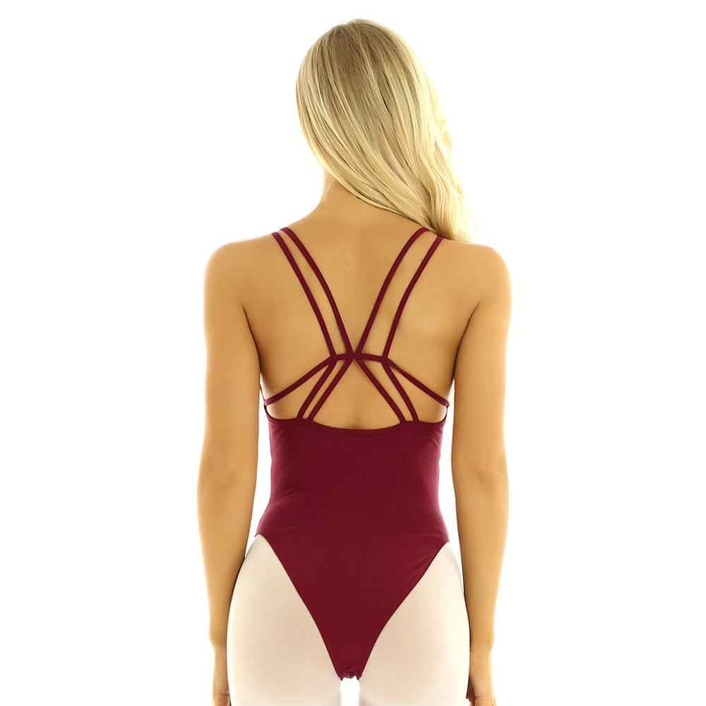Femme ผู้ใหญ่ Lyrical Dance ชุด Criss CROSS สร้างขึ้นในชั้นวางของ Bra ยิมนาสติก Leotard สำหรับสตรี Ballerina Turnpakje Dancewear