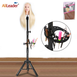 Alileader 140cm Adjustable Wig Tripod Stand Quality Wig Mannequin Head Stand For Training Head & Model Head & Canvas Head