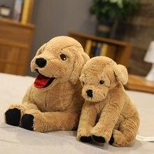 Cão bonito brinquedo de pelúcia vida como labrador filhote de cachorro macio boneca de pelúcia vida real animal deitado posição cão travesseiro crianças brinquedos presente de aniversário