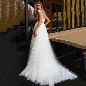 Image 2 - LORIE plaża suknia ślubna koronkowa Scoop line aplikacje tiul długa księżniczka w stylu Vintage suknia ślubna 2019 suknia ślubna szyta na zamówienie suknia