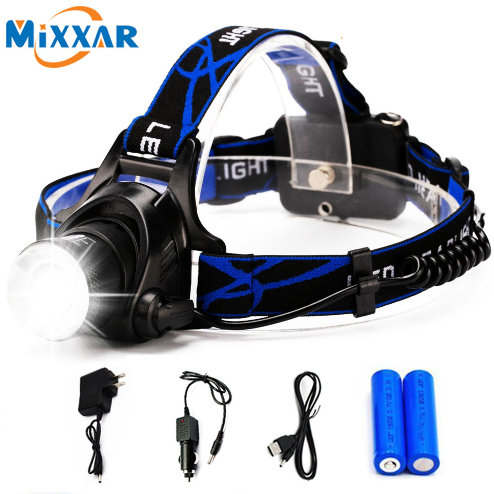 Rechargeable LED Headlamp Headlight Head Lamp/light Frontale 18650 Battery Head Flashlight Lanterns For Fishing Camping Running