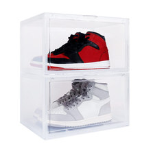 Newest Shoe Box Display Collection Storage Transparent Sneakers Drawer Style Acrylic