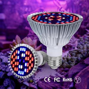 CanLing Full Spectrum E27 LED Growth Bulb E14 Plant Seedling Light Led 18W 28W 30W 50W 80W Fitolampy for Indoor Grow Tent 220V