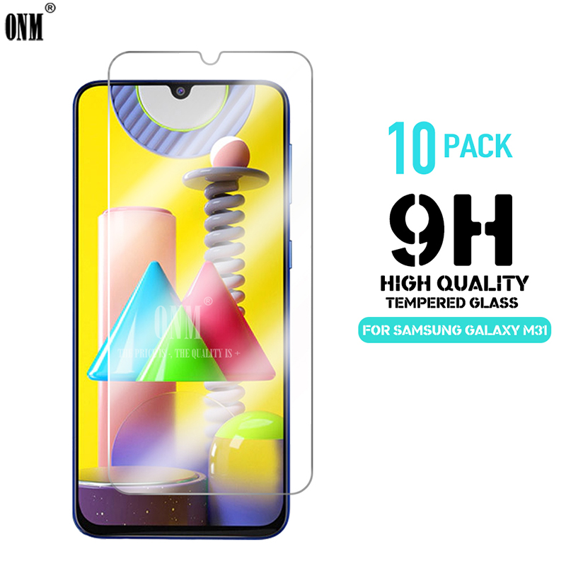 10Pcs M31 Tempered Glass For Samsung Galaxy M31 Screen Protector 9H Tempered Glass For Samsung Galaxy M31 6.4
