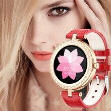 LIGE – montre connectée de luxe pour femmes, bracelet en cuir véritable, élégant, étanche et décontracté