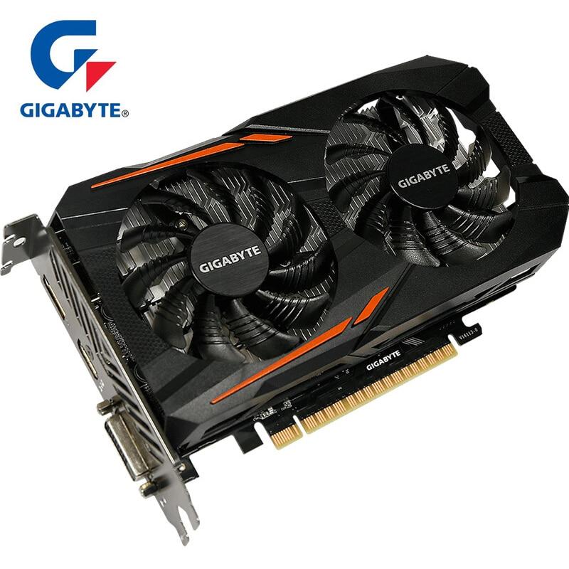 Carte graphique GIGABYTE GTX 1050 OC carte GPU 2GB GDDR5 avec carte vidéo NVIDIA GeForce gtx 1050 128 bits pour cartes PC d'occasion