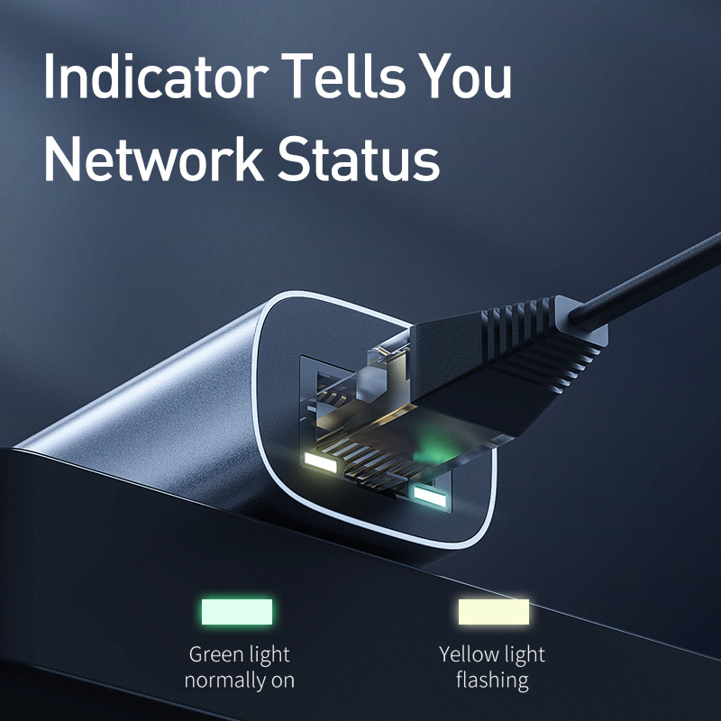 Baseus Ethernet Adapter USB Type C to RJ45 Network Card USB Converter Gigabit Lan Adapter For Notebook Macbook pro iPad Switch 5
