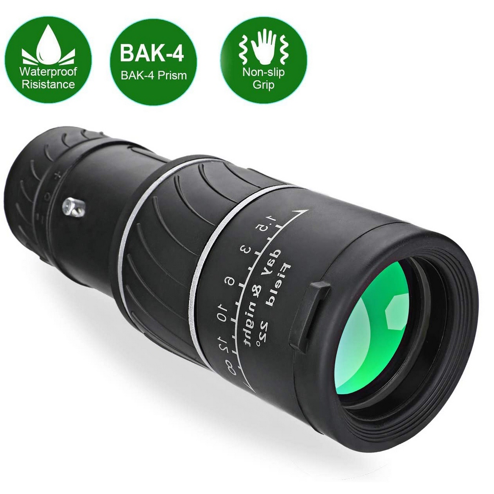 Monoculars <font><b>40x60</b></font> High Powered Zoom <font><b>Monocular</b></font>-Telescope FMC <font><b>BAK4</b></font> Prism 8000M Telescope HD Night Vision Travel Hunting Optics image
