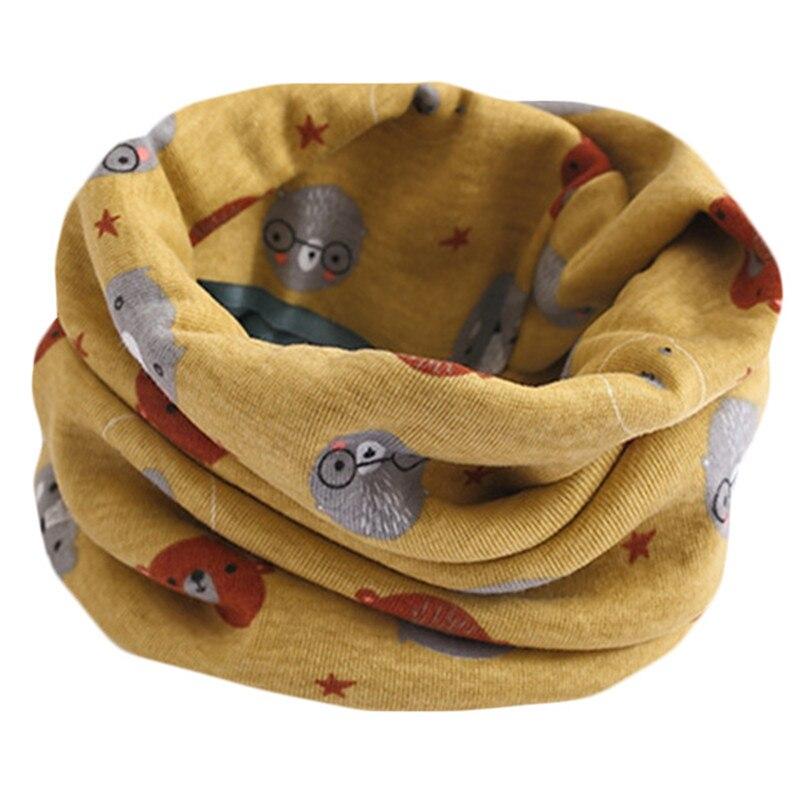 Весенне-осенне-зимний детский хлопковый шарф для От 0 до 10 лет, Детские шарфы с героями мультфильмов, модный теплый воротник - Цвет: 11