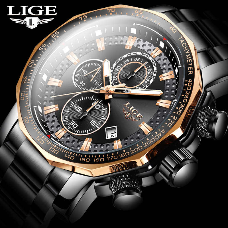 Fashion Heren Horloges Luik Luxe Rvs Waterdicht Quartz Horloge Mannen Top Brand Business Chronograaf Relogio Masculino