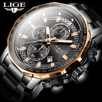 AliExpress - 92% Off: Fashion Mens Watches LIGE Luxury Stainless Steel Waterproof Quartz Watch Men Top Brand Business Chronograph Relogio Masculino