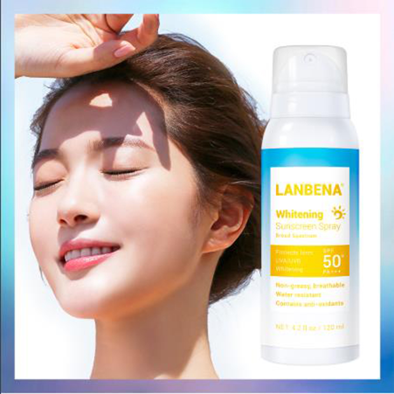 LANBENA Whitening Sunscreen Spray SPF50 PA++ Breathable Sunblock Effectively Isolation Ultraviolet Water Resistant Skin Care