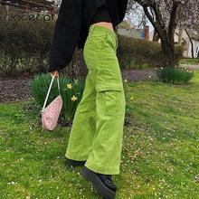 Jocecat вельветовые 90s широкие брюки женские большие карманы