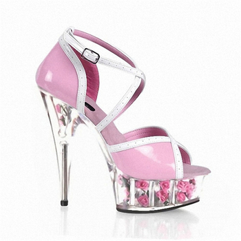 Rncksi 15cm pink princess shoes  Barbie dolls with ultra-high heels for women Cute cross-dressing shoes Bunny height shoes