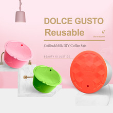 Capsule Dolce Gusto NESCAFE-FILTER-MACHINE Icafilasstainless Rusable Metal for Milk-Foam
