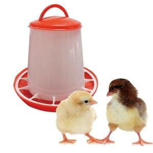 Image 2 - 10 pcs 1.5KG Chicks Feeder ฟาร์มสัตว์อุปกรณ์ดื่มน้ำพลาสติกเข็มขัด Handle Hen ถัง