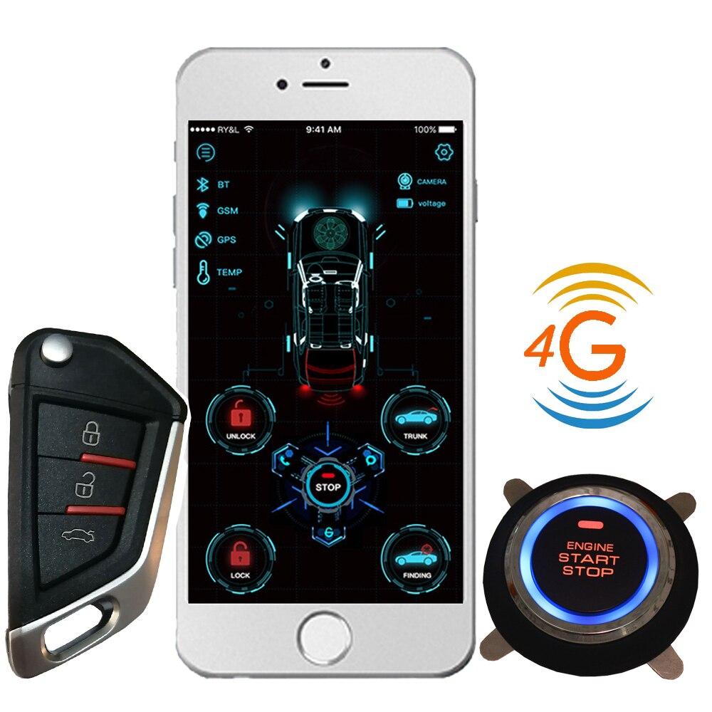 Cardot 4G Gsm Gps Smart Pke Remote Engine  Starter Start Stop Keyless Entry Car Alarm
