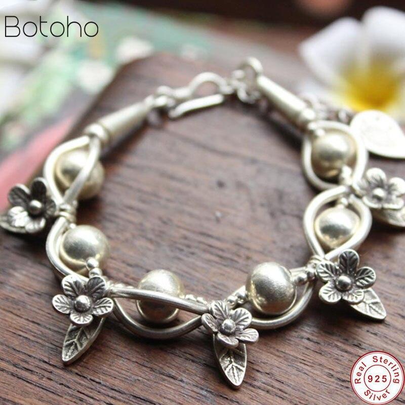 Mosaïque exclusif original design 100% S925 argent bracelet manuel main chaîne de femmes hommes caractère livraison gratuite cadeau