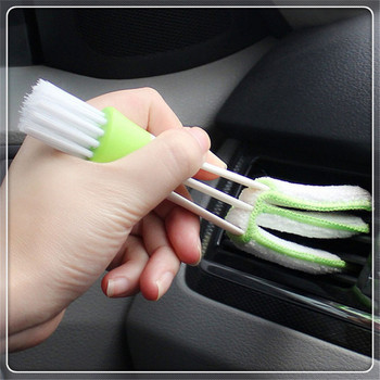 2 In 1 Car Air-Conditioner Outlet Cleaning Tool Multi-purpose for Toyota Sequoia GR Camry Prius 4Runner Sienna i-TRIL image