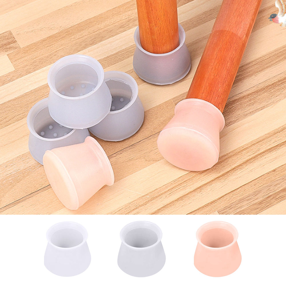 4/8/12Pcs Furniture Silicon Protection Cover Chair Leg Caps Floor Feet Cap Cover Protector Furniture Leveling Feet Bottom Cover