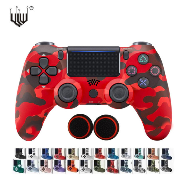 24Colors Bluetooth Double Vibration Controller For PS4 PS3 Wireless Gamepad Joystick For PS4 Games Console USB 6Axis Joypad 1