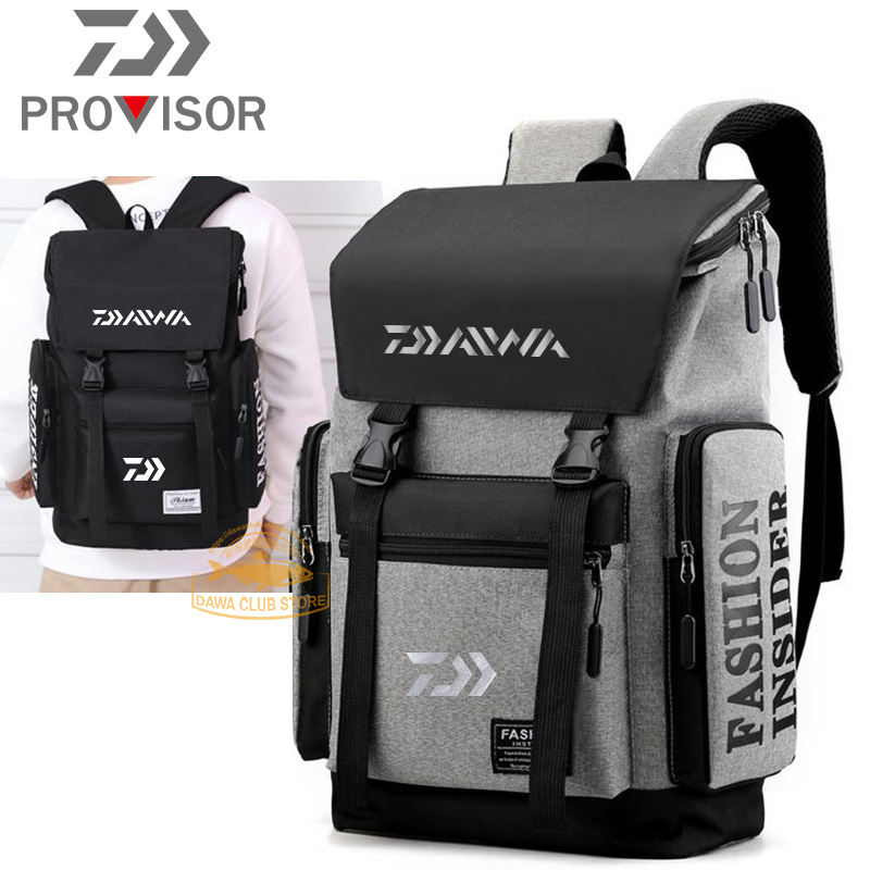 DAIWA Fishing Backpack Autumn Male Outdoor Sports Breathable Wear-resistant Waterproof Fishing Backpack Simple Travel Backpack
