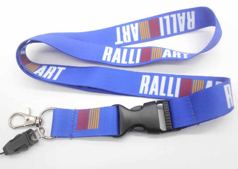 Cordón de insignia de logotipo personalizado para llaves de coche soportes de identificación teléfono celular correas de cuello para Ralliart