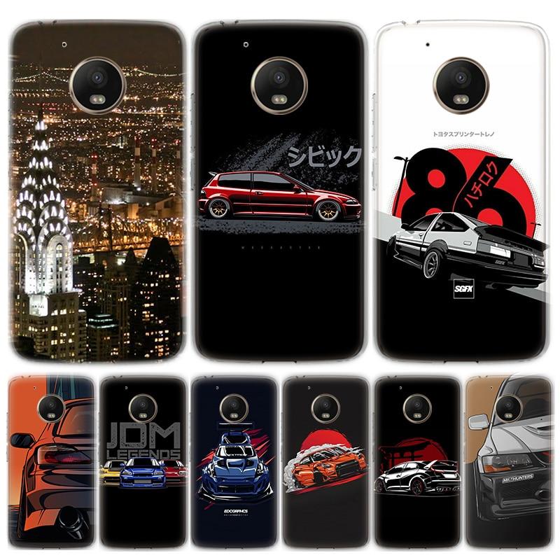 Cool Sports Car Comic Phone Case For Motorola MOTO G8 G7 G6 G5 G5S G4 E6 E5 E4 Plus Play Power One Action Soft Silicone TPU Cove