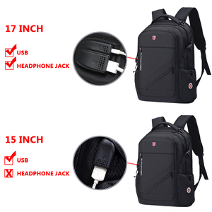 Image 5 - Anti thief USB Charging Laptop Backpack Men Oxford bagpack Waterproof Travel Backpack Vintage School Bag 15/17inch Male Mochila