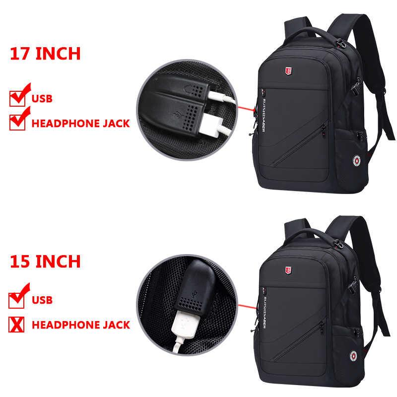Anty-złodziej plecak z portem USB mężczyźni Oxford bagpack wodoodporny plecak podróżny plecak szkolny w stylu retro 15/17 cala męski Mochila