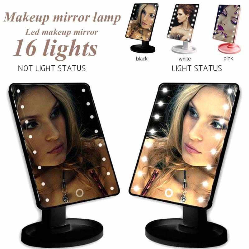 Складной светодиодный подарки зеркала для макияжа увеличительное зеркало