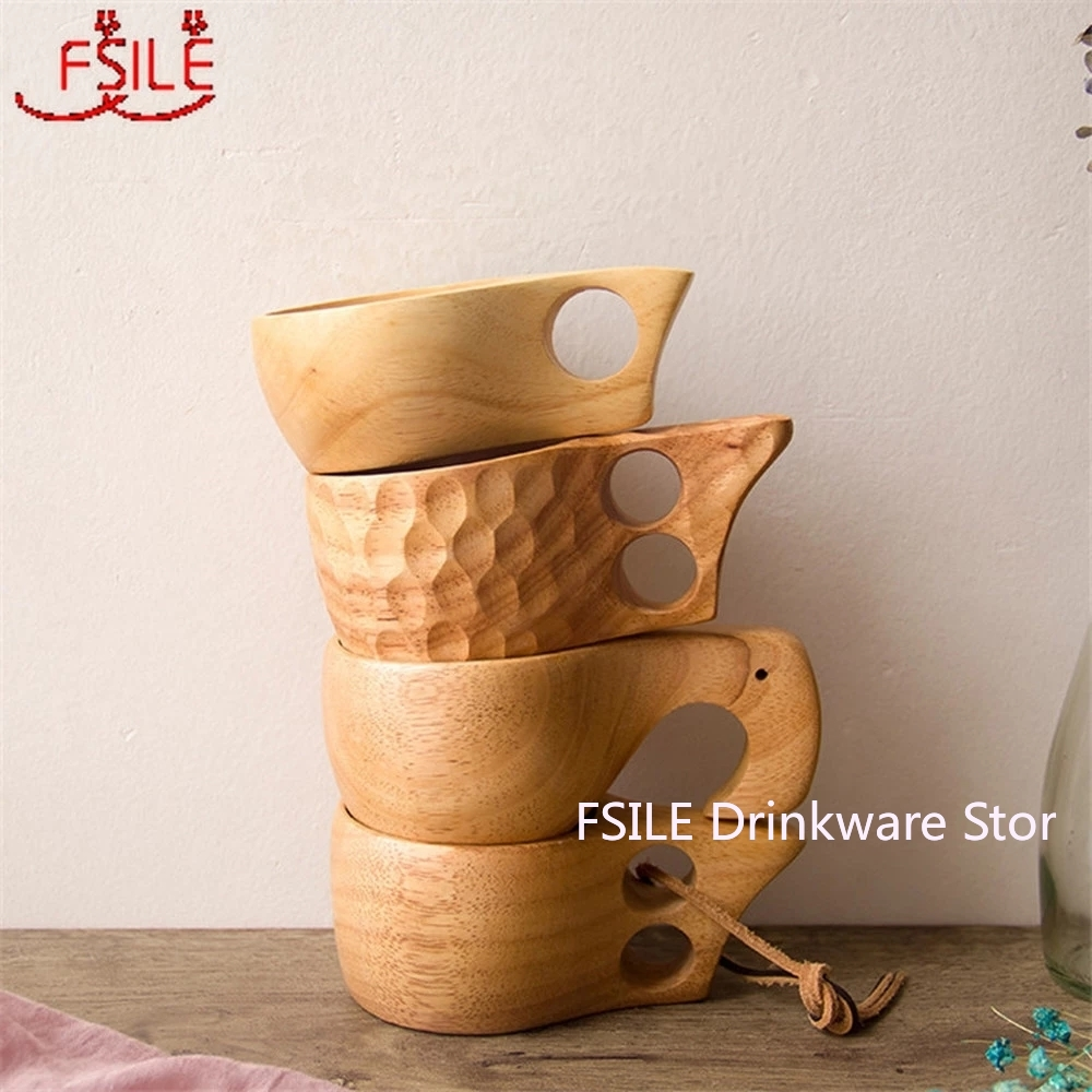 New Chinese Portable Wood Coffee Mug Rubber Wooden Tea Milk Cups Water Drinking Mugs Drinkware Handmade Juice Lemon Teacup Gift