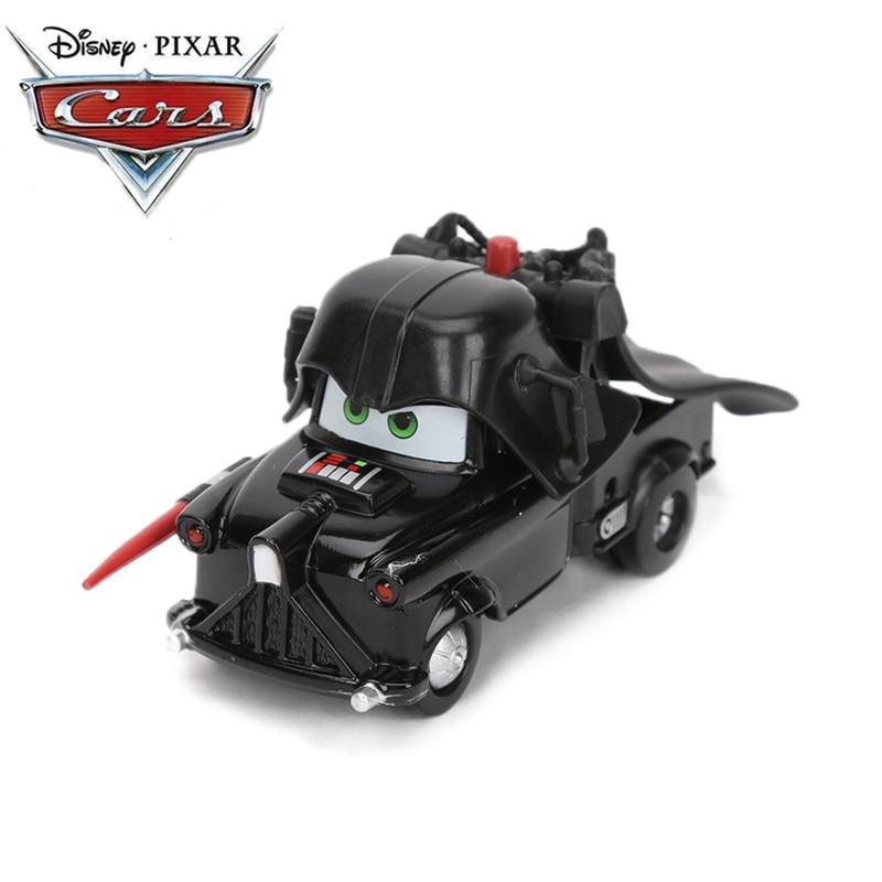 6.5-8.5cm Disney Pixar Cars 3 Toys Black Darth Vader Mater Die-cast Vehicle Lightning McQueen Whipplefilter Metal Alloy Car Mode