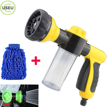 USEU 8 in 1 High Pressure Spray Nozzle Water Shape Sprayer Garden Hose Car Wash Foam Gun with 100cc Bottle