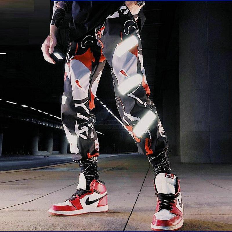 Streetwear Men Hip Hop Black Cargo Pants joggers Sweatpants Overalls Men Ribbons Harem Pants Women Fashions Trousers Men