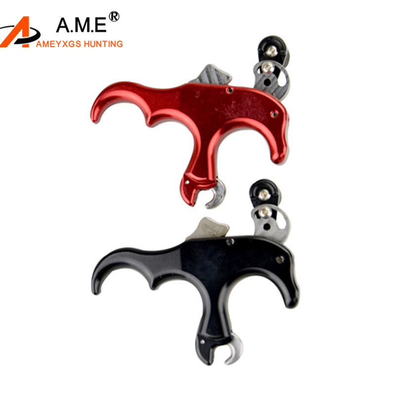 Outdoor 3 Finger Thumb Archery Release Aids For Compound Recurve Bow Hunting